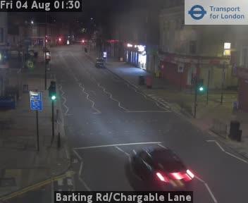 Barking Road / Chargable Lane traffic camera.