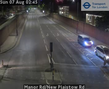 Manor Road / New Plaistow Road traffic camera.