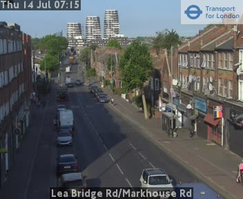 Lea Bridge Road / Markhouse Road traffic camera.