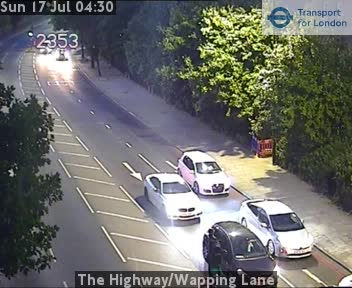 The Highway / Wapping Lane traffic camera.