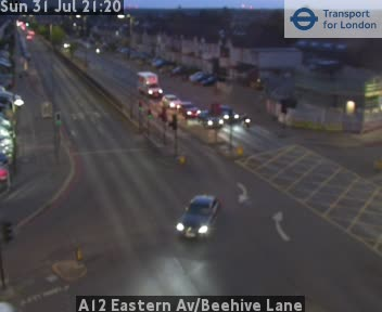 A12 Eastern Avenue / Beehive Lane traffic camera.
