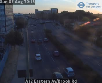 A12 Eastern Avenue / Brook Road traffic camera.