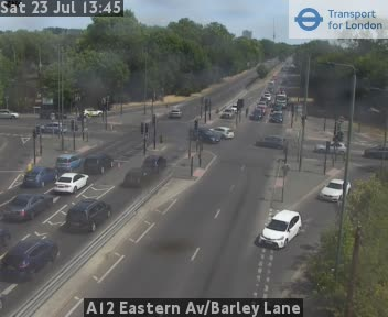 A12 Eastern Avenue / Barley Lane traffic camera.