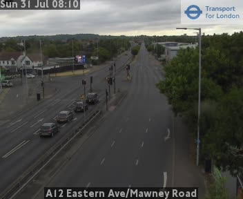A12 Eastern Avenue / Mawney Road traffic camera.