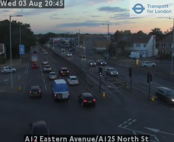 A12 Eastern Avenue / A125 North Street traffic camera.