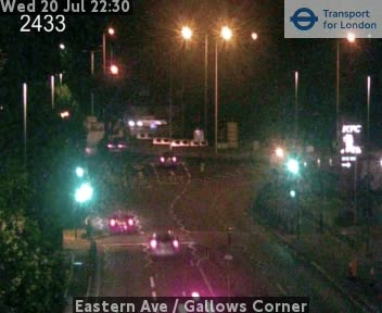 Eastern Avenue  /  Gallows Corner traffic camera.