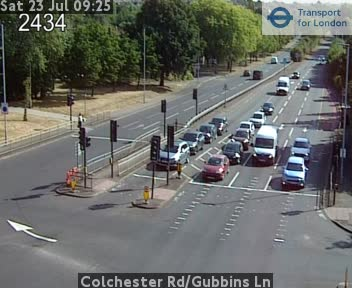 Colchester Road / Gubbins Lane traffic camera.
