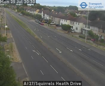 A127 / Squirrels Heath Drive traffic camera.