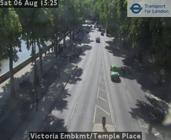 Victoria Embankment / Temple Place traffic camera.