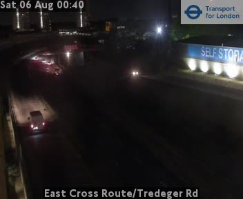 East Cross Route / Tredeger Road traffic camera.
