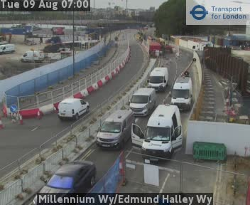 Millennium Way / Edmund Halley Way traffic camera.