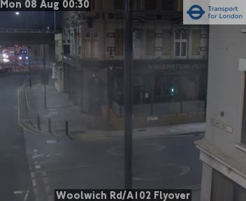 Woolwich Road / A102 Flyover traffic camera.