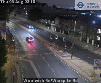 Woolwich Road / Warspite Road traffic camera.