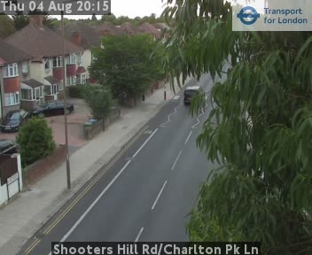 Shooters Hill Road / Charlton Park Lane traffic camera.