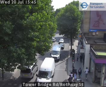 Tower Bridge Road / Rothsay Street traffic camera.