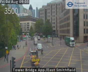 Tower Bridge App. / East Smithfield traffic camera.