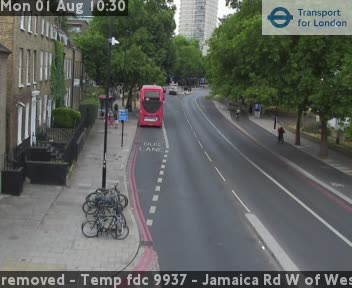 Jamaica Road West of West Lane traffic camera.