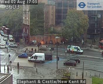 Elephant & Castle New Kent Road London Traffic Weather Cam London
