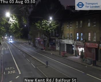 New Kent Road  /  Balfour Street traffic camera.