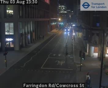 Farringdon Road / Cowcross Street traffic camera.