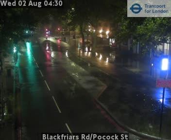 Blackfriars Road / Pocock Street traffic camera.