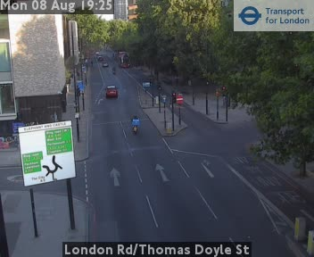 London Road / Thomas Doyle Street traffic camera.