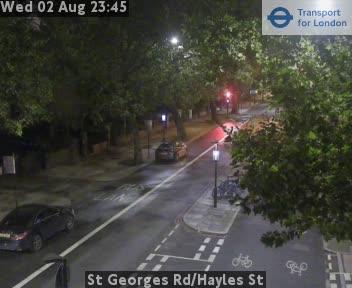 St Georges Road / Hayles Street traffic camera.