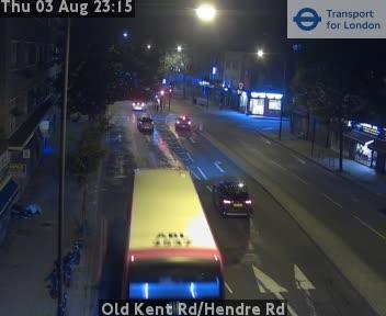 Old Kent Road / Hendre Road traffic camera.