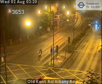 Old Kent Road / Albany Road traffic camera.