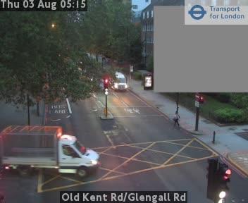 Old Kent Road / Glengall Road traffic camera.