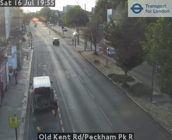 Old Kent Road / Peckham Park Road traffic camera.