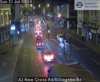 A2 New Cross Road / Billington Road traffic camera.