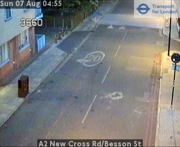 A2 New Cross Road / Besson Street traffic camera.