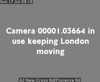 A2 New Cross Road / Florence Road traffic camera.