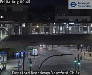 Deptford Broadway / Deptford Church Street traffic camera.