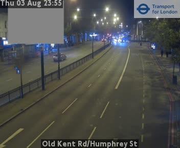 Old Kent Road / Humphrey Street traffic camera.