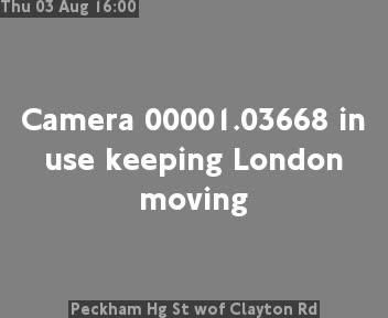 Peckham Hg Street wof Clayton Road traffic camera.