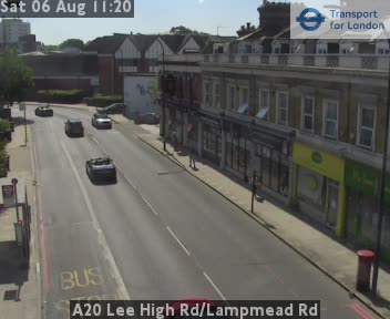 A20 Lee High Road / Lampmead Road traffic camera.