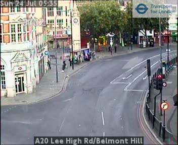 A20 Lee High Road / Belmont Hill traffic camera.