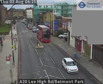 A20 Lee High Road Belmont Park Cctv London Traffic