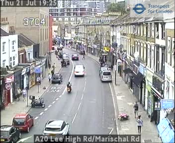 A20 Lee High Road / Marischal Road traffic camera.