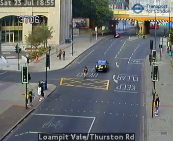 Loampit Vale / Thurston Road traffic camera.