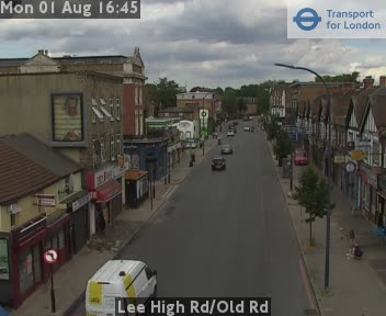 Lee High Road / Old Road traffic camera.