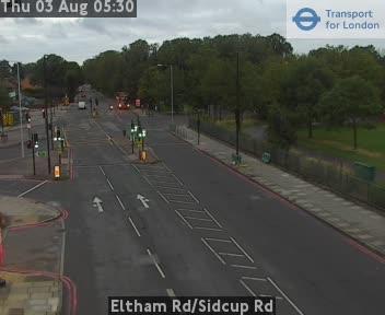 Eltham Road / Sidcup Road traffic camera.