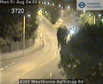 A205 Westhorne Avenue / Sidcup Road traffic camera.