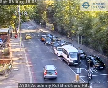 A205 Academy Road / Shooters Hill traffic camera.