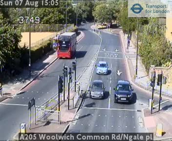 A205 Woolwich Common Road / Nightingale Place traffic camera.