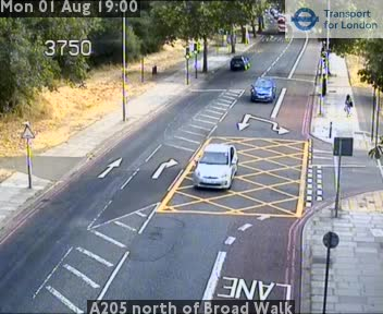A205 north of Broad Walk traffic camera.