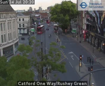 Catford One Way / Rushey Green traffic camera.
