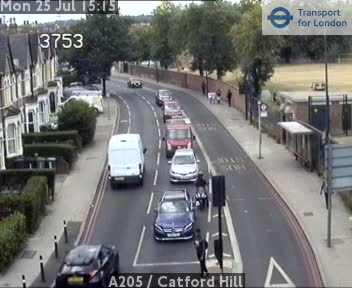 A205  /  Catford Hill traffic camera.